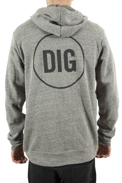 dig zip hoody grey