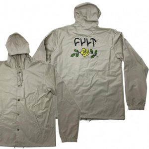 Jacket Windbreaker CULT In Bloom Hooded Tan