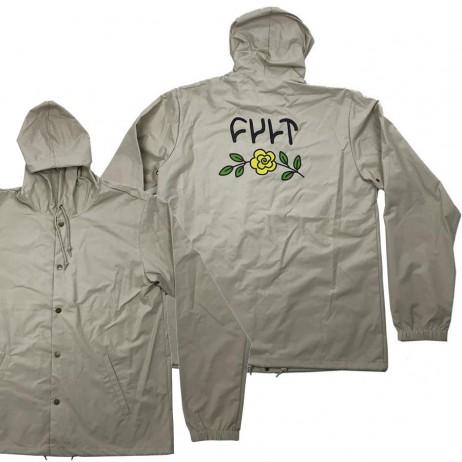 Jacket Windbreaker CULT In Bloom Hooded Tan