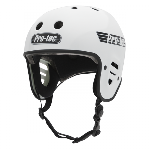 casque protec full cut gloss white